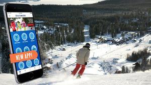 Orsa Grönklitt har lanserat en app där bland annat färsk information om anläggningens längdskidspår och alpina verksamhet presenteras. Foto: Orsa Grönklitt
