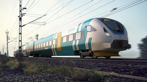 Ungefär så här kan Västtrafiks nya lokaltåg komma att se ut när de sätts i trafik, tillverkade av Bombardier.Foto: Bombardier Transportation Sverige AB.