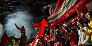 Modos fans i derbyt: Foto: Erik Mårtensson//TT.
