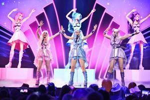 Bild: Claudio Bresciani / TT. Dolly Style framför här sitt bidrag ''Habibi'' i Melodifestivalens tredje deltävling i Leksand i februari.