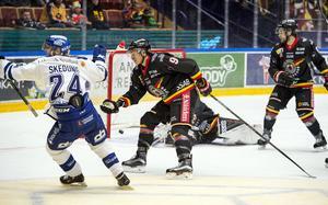 Leksands Isac Skedung gör 2-0 mot Luleå.
