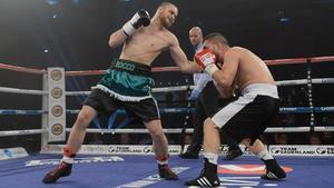 Rocco Wadell fightades mot ungraren Mark Krammerstodter.
