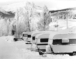 Husvagnsparkeringen i Såå klarade bara en del av anstormningen. Foto: Åke Nord