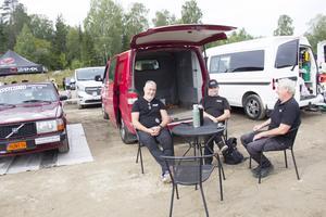 Torbjörn Waller, Daniel Nordling och P.H. Persson.