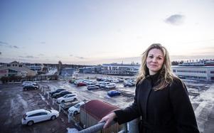 Terese Bergqvist jobbar för att fylla Hemsta företagspark som området numera heter.