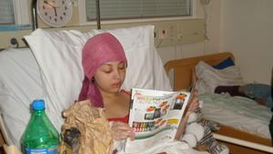 Chasmin på sjukhuset efter den första operationen 2009. Bild: Privat