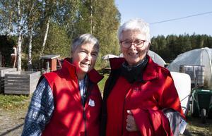Birgitta Höglund och Carin Gisslén Schönning är båda medlemmar i Gävleborgs Fäbodförening, som arrangerade årets Fäbodriksdag.