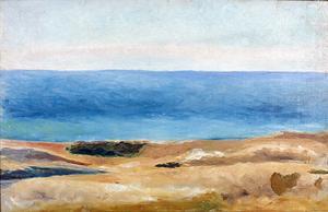 Havsstrand på Gotland målad av Ivan Aguéli 1889. Foto: Moderna Museet