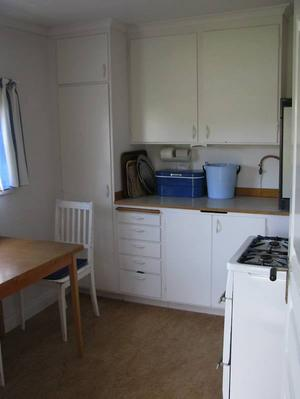 Gasdrift. Stugans kök är utrustat med husgeråd och spis och kylskåp som drivs på gasol. En vattenbrunn finns tillgänglig precis utanför stugan, men dusch och toalett finns inte.