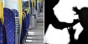 En man misshandlade en tågföraren, efter att denne hade informerat om att det är livsfarligt att vistas på tågspåret när bommarna är nedfällda.