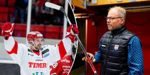 Timrå IK:s sportchef Kent Norberg hyllar poängkungen Albin Lundin och ger sin syn på centerns framtid. Bilder: K-G Z Fougstedt och Pär Olert/Bildbyrån