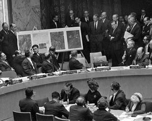 FN:s säkerhetsråd sammanträder den 25 oktober 1962. Foto: AP Photo