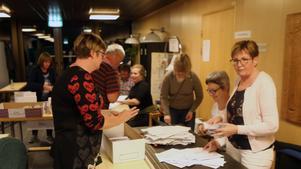 Det stora antalet förtidsröster gjorde att valresultatet dröjde ovanligt länge i Härjedalen.