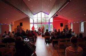 Det har redan hållits små konserter i den nya salen vid Bänkåsviken. Bild: P-M Goebel