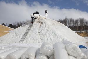 Projektet med att spara snö har blivit en succé för Bruksvallarna och Ramundberget.
