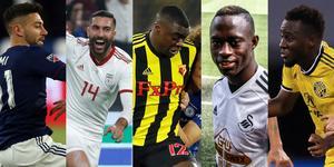 Gabriel Somi, Saman Ghoddos, Ken Sema, Modou Barrow och David Accam. Vilket av ÖFK-proffsen gissar du är bäst betald?