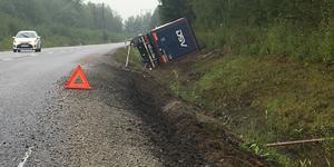 Olyckan på  riksväg 52 vid Kumlaby den 9 september 2019.