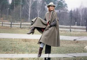 Maria som cowgirl. Foto: Lasse Halvarsson