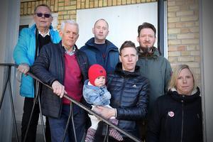 Några som engagerat sig i medborgardialogens anda att komma med egna förslag om skulhusorganisationen är från vänster Latrs-Erik Hallin, Lars Sjödin, Jan Lotberg, Peder Nylander, Jennie Näslund och Miriam Sundström.