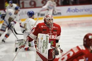 Niklas Svedberg vaktar Timrås mål i kväll.