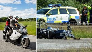 Motorcyklisterna blir allt fler. Lyckligtvis fortsätter även dödsfallen och skadorna att minska. Bild: Gustav Mårtensson/ SMC, Johan Nilsson/ TT.