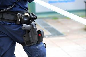 Vid ett ingripande av en person blev en polis angripen med pepparspray. Foto: Fredrik Sandberg / TT