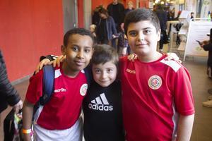 Anwar Abdulla, Kevin Gönültas och Robin Gönültas. Robin har väntat hela året på Göransson cup och tycker att det är roligt.