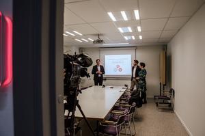 På fredagen berättade  Peder Björk (S), Hans Forsberg (C) och Christiane Rüdiger (V) om de stora politiska dragen för de kommande fyra åren i Sundsvall.