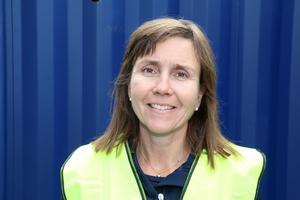 Pia Hjalmarsson, projektledare för Stena Renewable, besöker Kronoberget regelbundet.