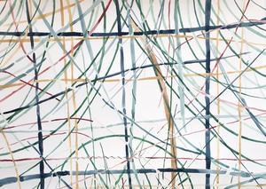 """Detalj av Helena Piippo Larssons målning som är med i Vårsalongen. Den har titeln """"Gräshuset"""". Foto: Privat"""