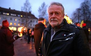 Lennart Sohlberg, (S), deltog under manifestationen i Mora och berättade om Mora kommuns nya strategi i miljöarbetet.
