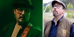 Till vänster: Pugh Rogefeldt. Höger: Arrangören Björn Carlsson. Bild: Martin Bohm/William Holm