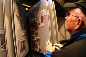 I Losgruvans besökscenter finns  foton och tidningsurklipp.