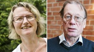 Kommunalråd i Heby kommun, Marie Wilén (C), och Michael Öhman, gruppledare för SD förra mandatperioden. Arkivfoto: SA