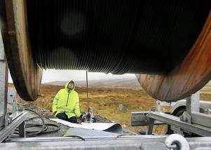 I oktober 2015 var LT på plats i Stekenjokk i nordligaste Jämtland när de första metrarna fiber grävdes ner över kalfjället.