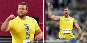 Guld och silver till Daniel Ståhl och Simon Pettersson. Foto: TT