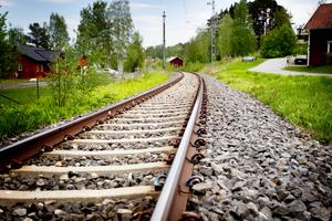 Det återstår många miljoner innan tåget kan stanna i Nälden och perrongen är finansierad.Foto: Melinda Eriksson