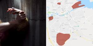 Våldtäktsförsöken har inträffat på Alderholmen, vid Willys på Norr, i Andersberg och kring högskolan.