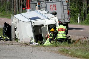 Olycka på riksväg 56 vid Främlingshem.