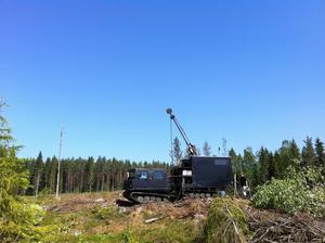 Wiking Mineral började borra i området sommaren 2008. Nu har man fått bearbetningskoncession.