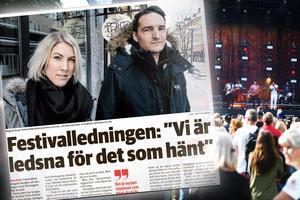 Festivalledningen med Anna Norman, koordinator, och Magnus Borg, verksamhetsledare, menar att de allra flesta leverantörer har fått betalt - men att kommunikationen brustit med några företagare. Nu siktar de framåt.