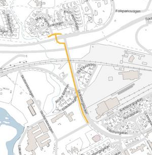 Skånbergsleden mellan Lassaretsvägen och Sätrahöjden Bild: Gävle kommun