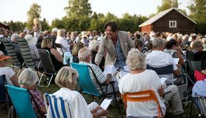 Martin Hanning Häggström lät publiken sjunga ut.