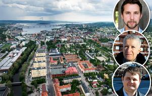 Hans Forsberg, Karin Gustafsson och Niklas Säwén skriver om majoritetens samarbete i Sundsvall.
