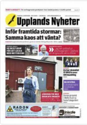 Uppland Nyheter. Bild: Sveagruppen