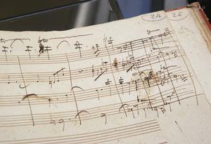 Handskrivna noter av Beethoven. Foto: Dima Gavrysh/TT