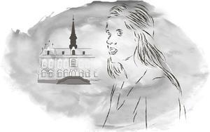 Alexandra Gard (S), ordförande i barn- och utbildningsnämnden i Söderhamn fram till årsskiftet. Illustration: Torkel Bohjort