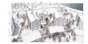 Illustration: Sydväst arkitektur och landskap