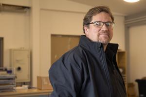 Markus Broberg driver Woxnadalens bilservice. I år var det dags att bygga ut.