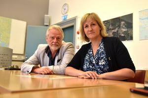 Lennart Sohlberg (S) och Anna Hed (C) berättar varför de inte tar ställning i frågan om en potentiell etablering av Coop på Saxviken.